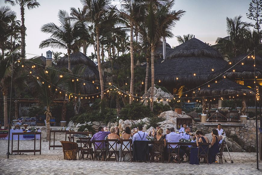 Beach Wedding Reception in Cabo San Lucas