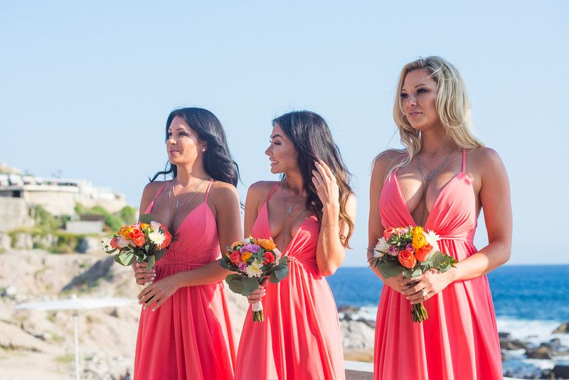 Bridesmaids waiting for Bride at The Cape Wedding Ceremony