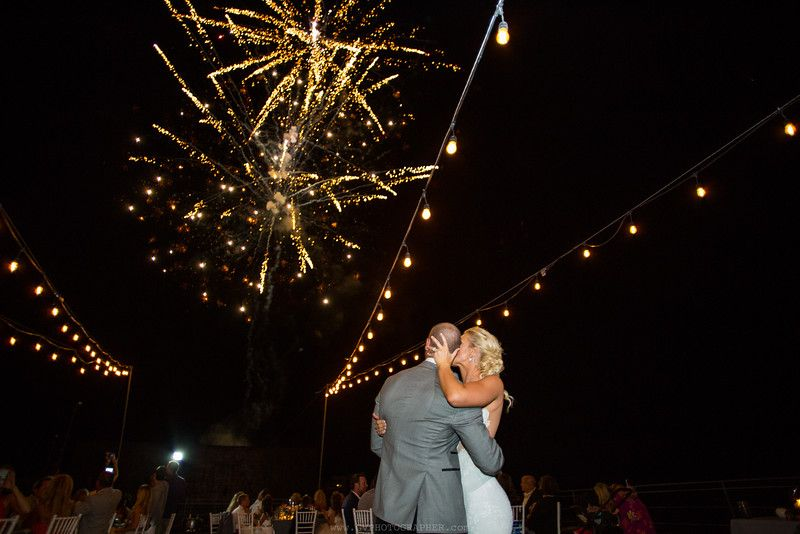 Fireworks at the Cape Rooftop Cabo Wedding Services