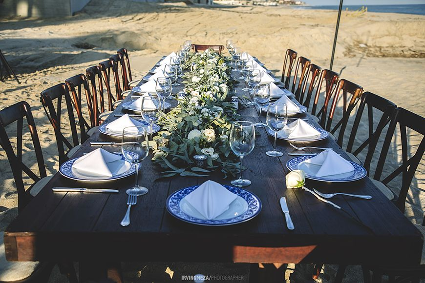 Wedding Beach Table Setting Cabo San Lucas