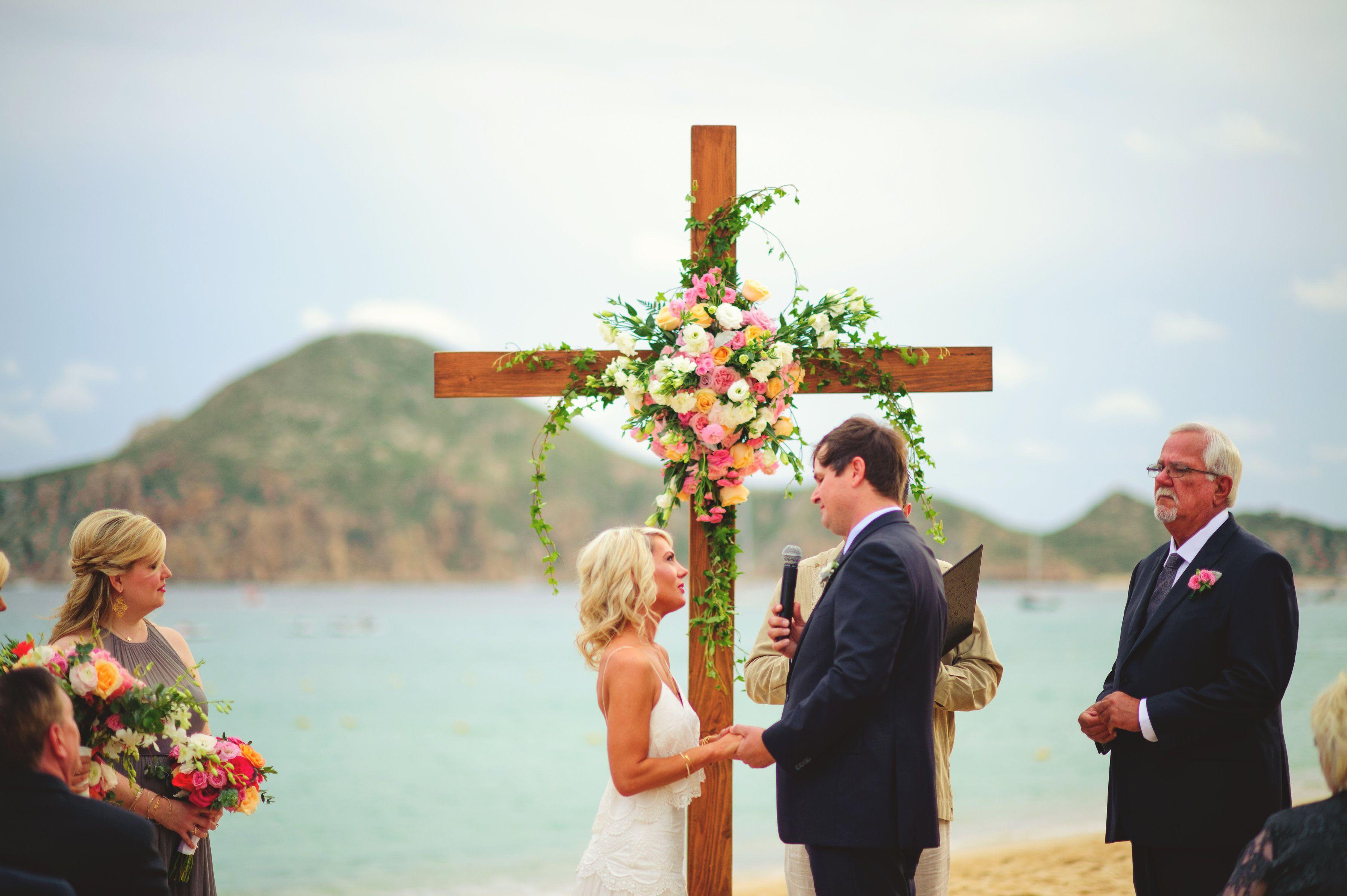 Beach Wedding Ceremony in Mexico at Villa la Estancia by Cabo Wedding Services
