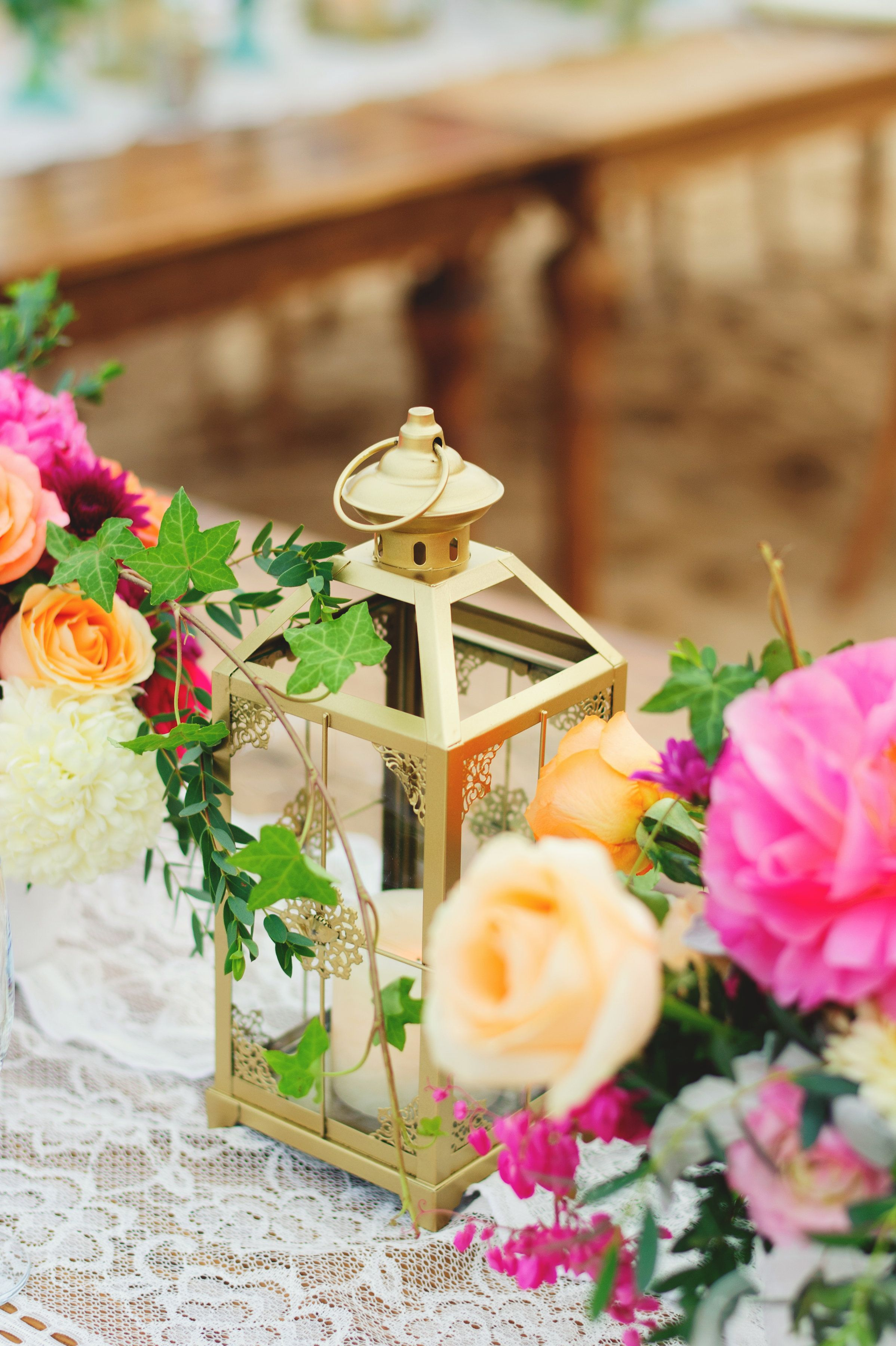 Table Settings at Wedding in Cabo San Lucas by Cabo Wedding Services with Peonies and Roses