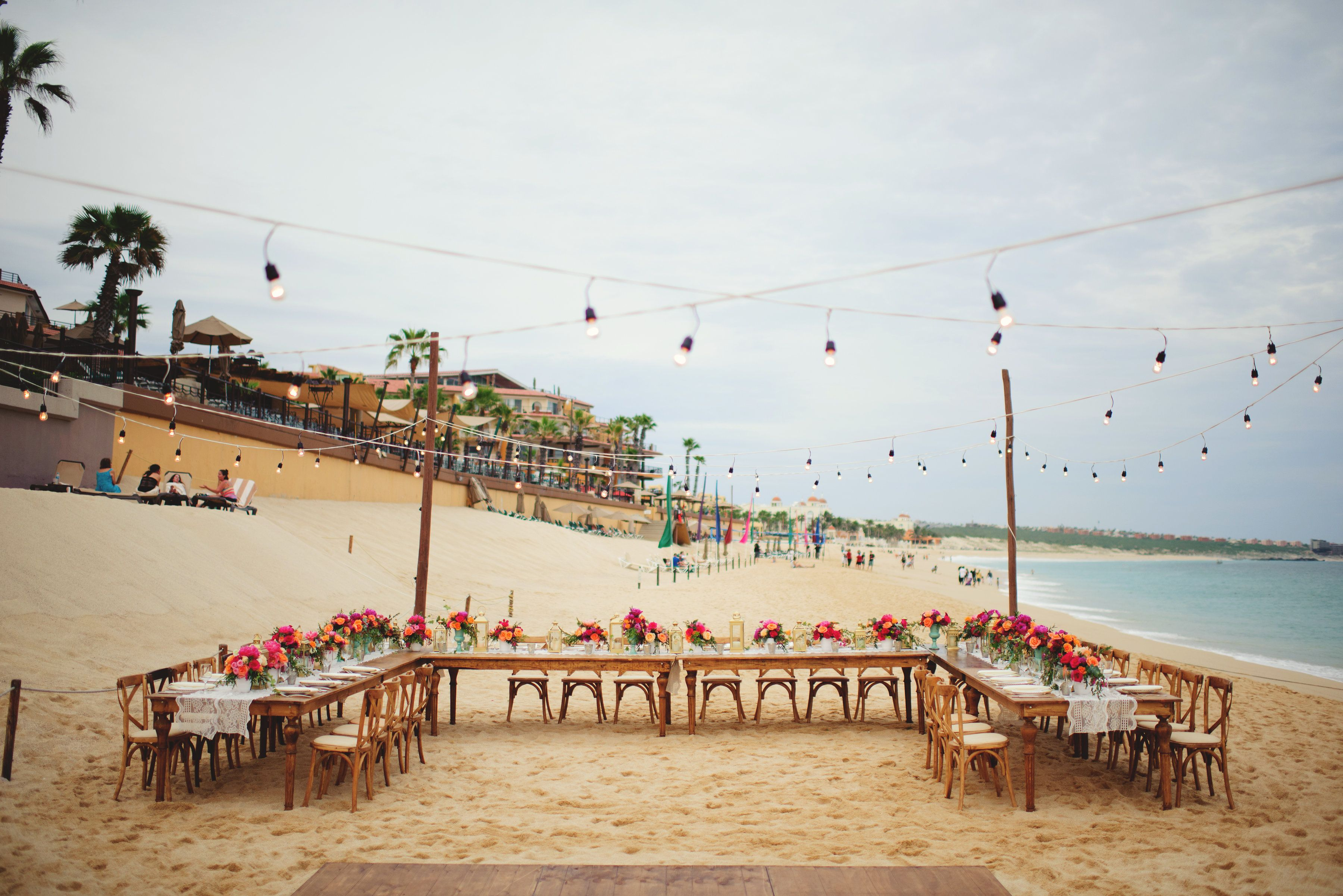 Reception setup and design by Cabo Wedding Services