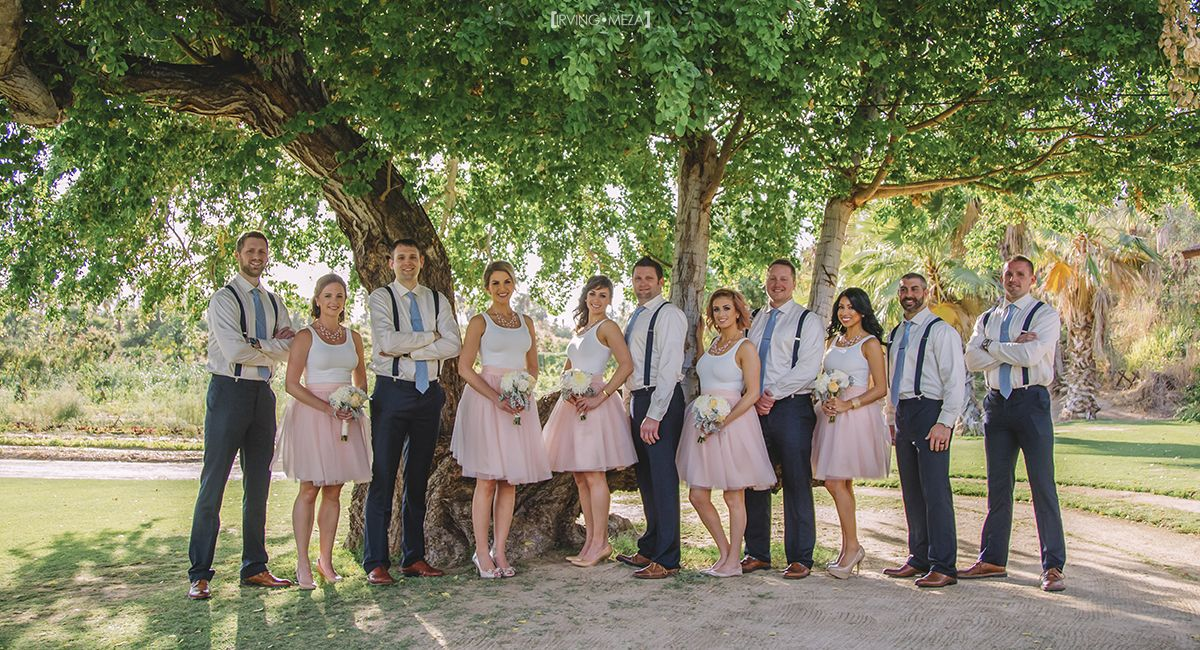 Bridal Party at Wedding Venue Flora Farms