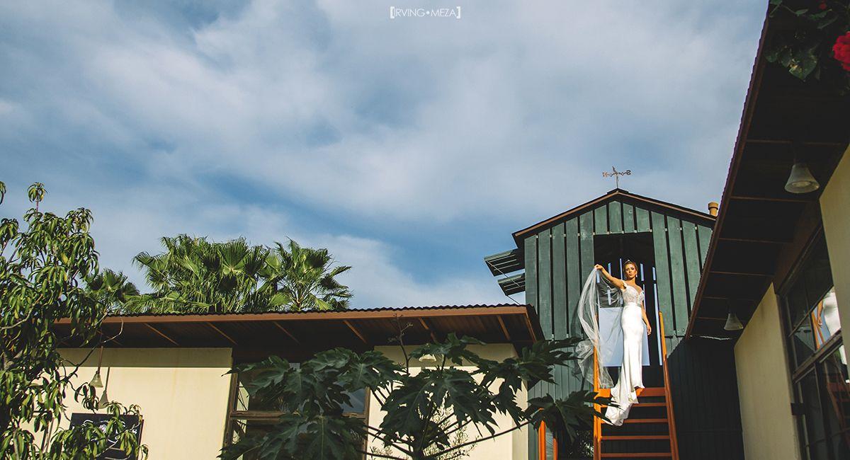 Bridal portrait at Wedding Venue Flora Farms in Cabo San Lucas Mexico