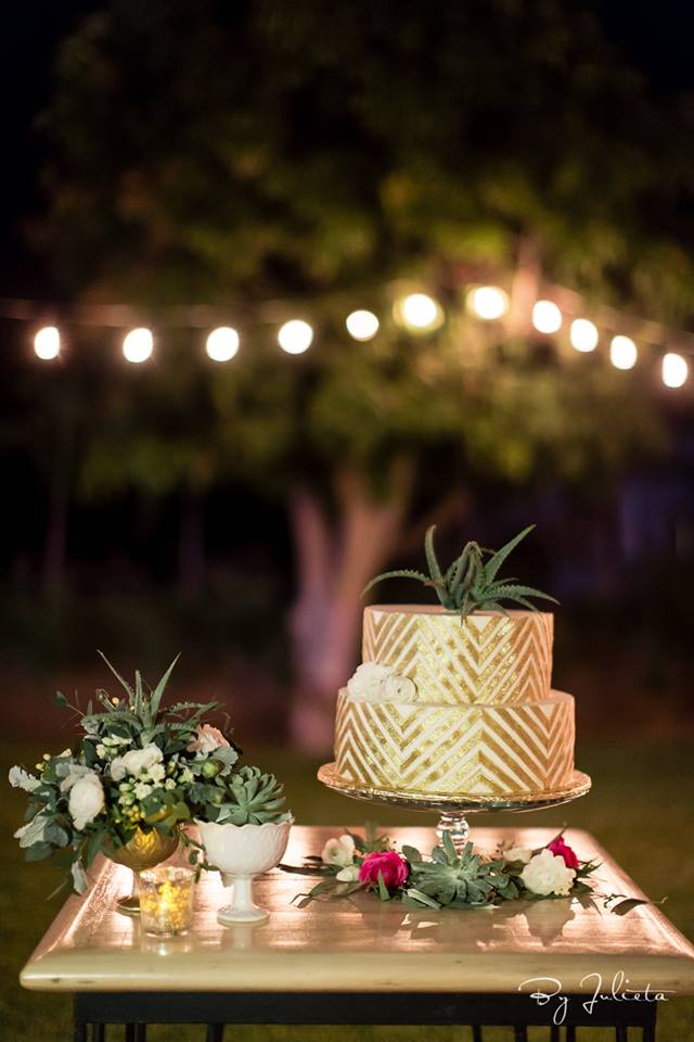 Wedding Cake designed by Jesse Wolff coordinated by Cabo Wedding Services at Acre Baja in Los Cabos