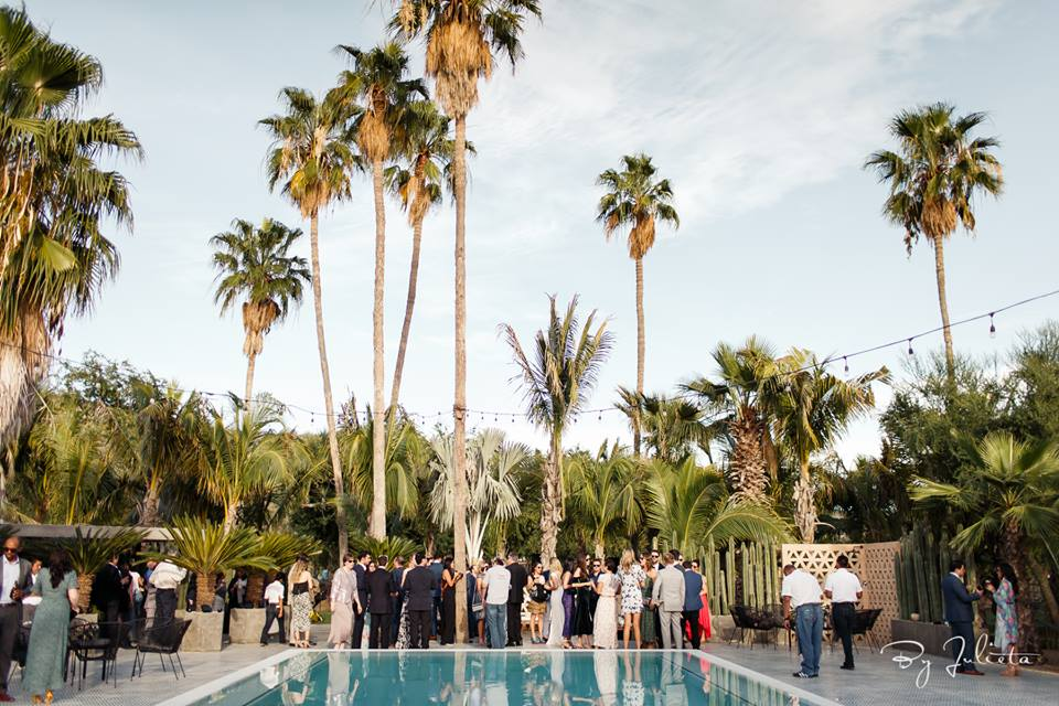 Cocktail Hour at Acre Baja Wedding by Cabo Wedding Services and desgined by Jesse Wolff