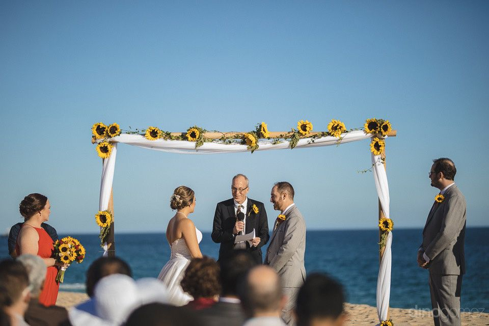 Wedding Ceremony at Sheraton Hacienda del Mar Cabo San Lucas by Cabo Wedding Services