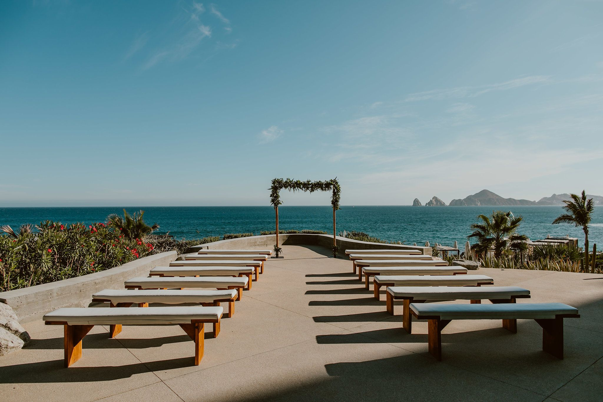 Wedding Ceremony design by Jesse Wolff at The Cape in Cabo San Lucas Mexico