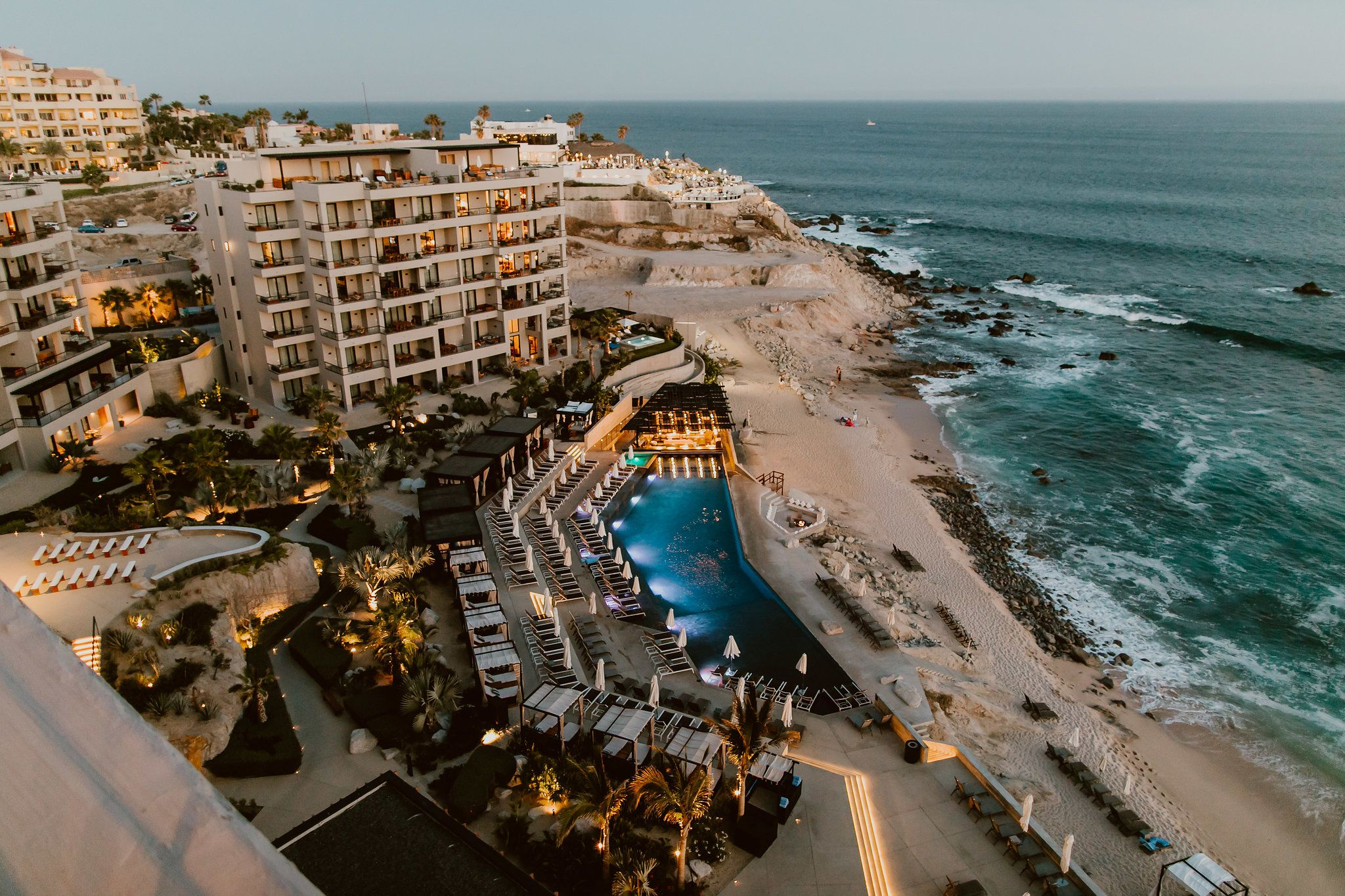 Sky view from the Cape by Thompson Hotels in Los Cabos Mexico