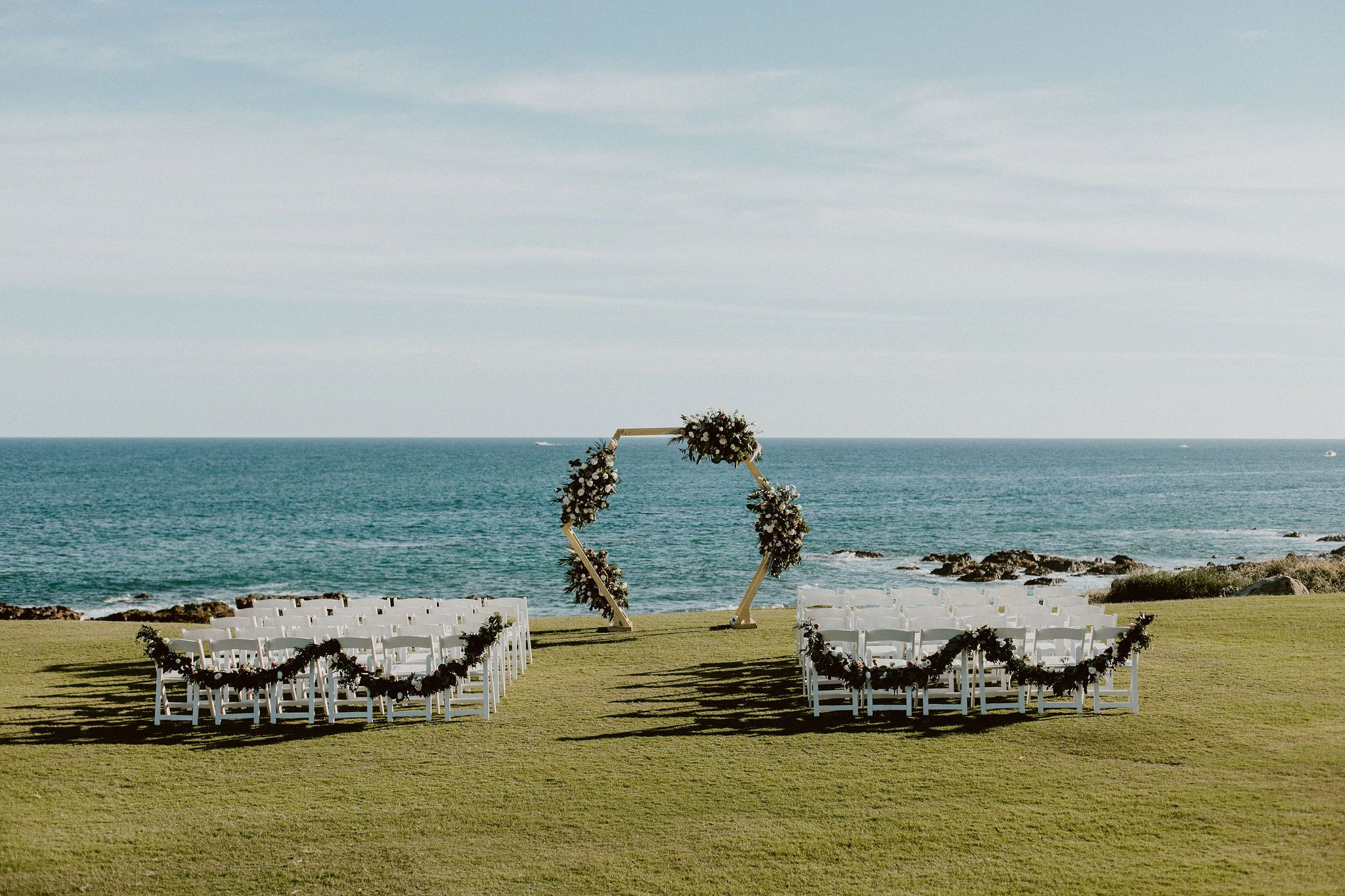 Wedding Ceremony at Cabo del Sol in Los Cabos Mexico. Wedding Planning by Cabo Wedding Services and Photography by Ana and Jerome