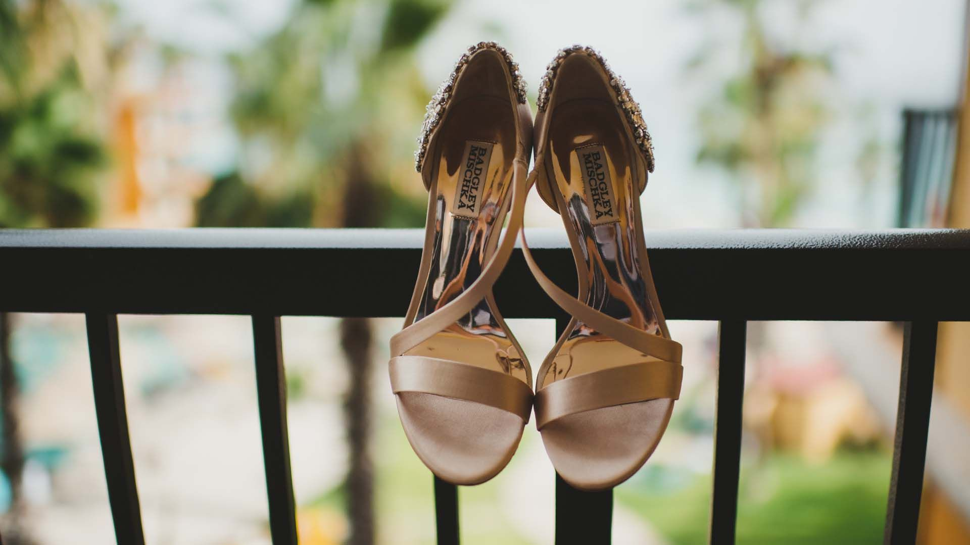 Beautiful shoes were worn by the Bride on her Wedding day. They had such beautiful coloring and went perfect with the color of her wedding dress and makeup. Her wedding took place at Villa del Palmar, in Los Cabos, Mexico.