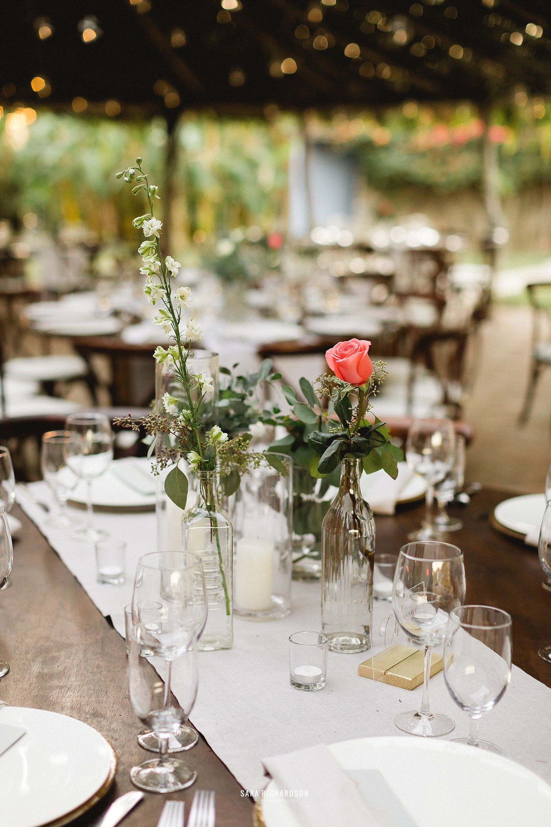 Table setting at Los Tamarindos in Cabo San Lucas, Mexico. Wedding Planning by Cabo Wedding Services