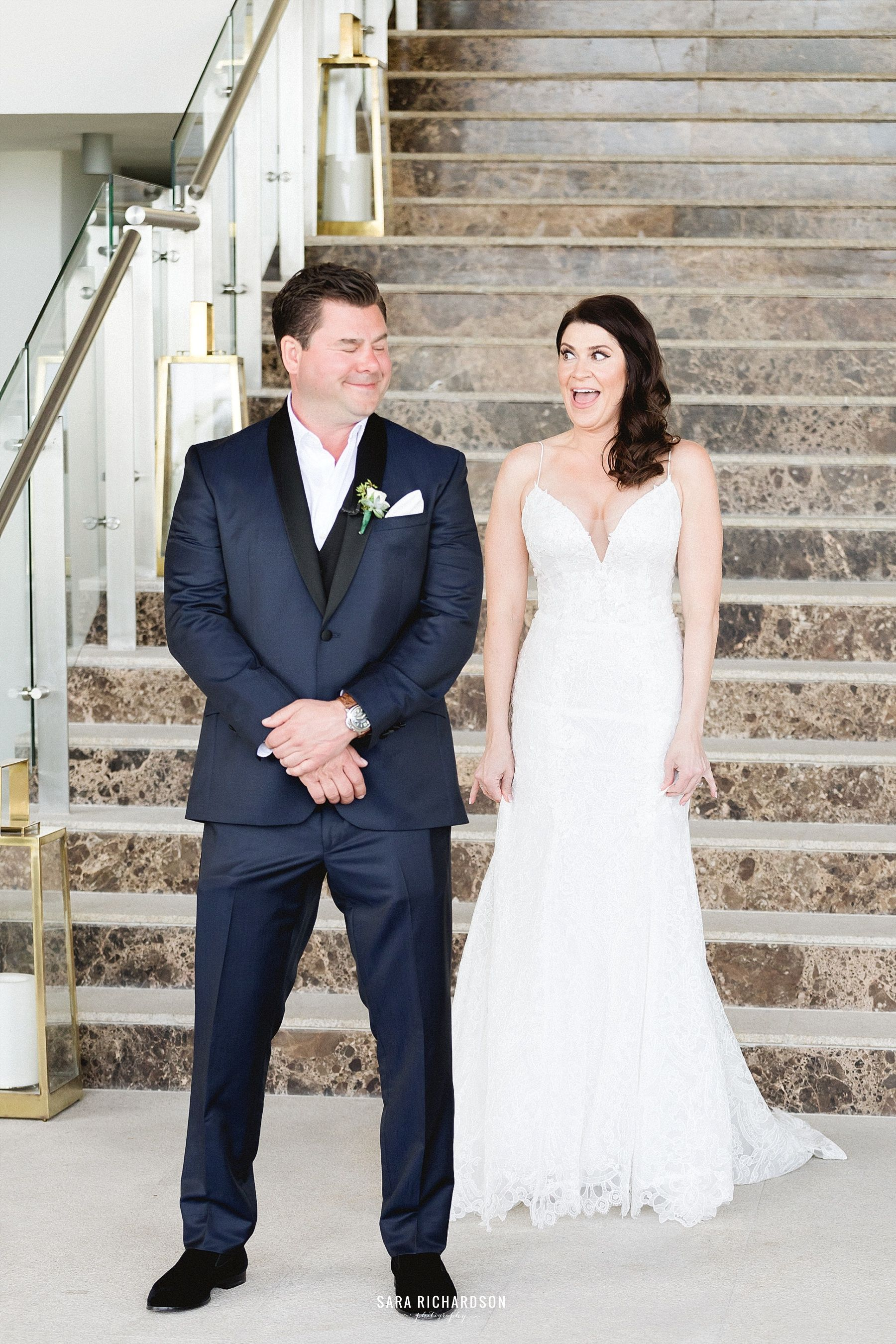 Our Bride could not contain her excitement as she saw her groom for the first time all glammed up. Thank to Bri Berliner who made our Bride look beautiful and went with a light tone for her cheeks and lips, she looks stunning.