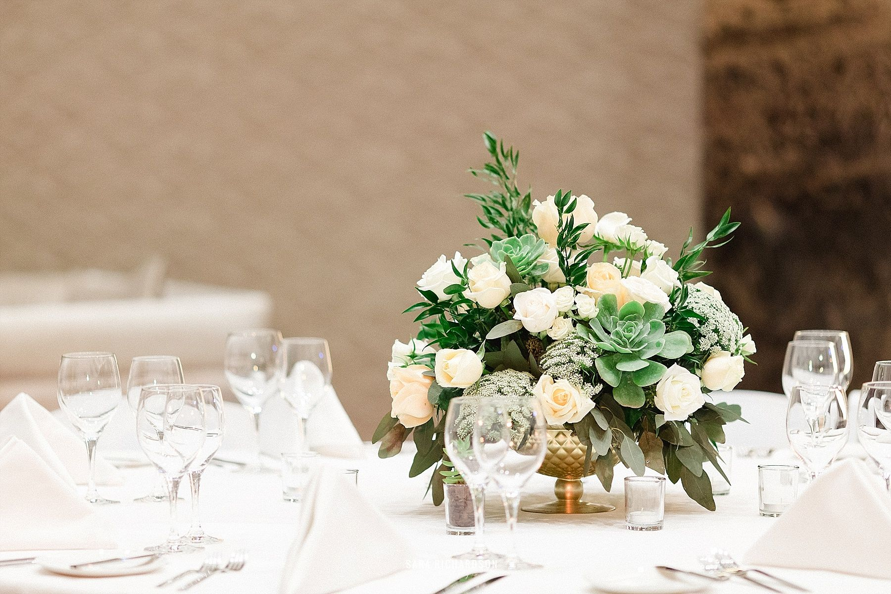 Flower Arrangement on table at LeBlanc in Los Cabos Mexico. Destination Wedding Planning by Cabo Wedding Services.