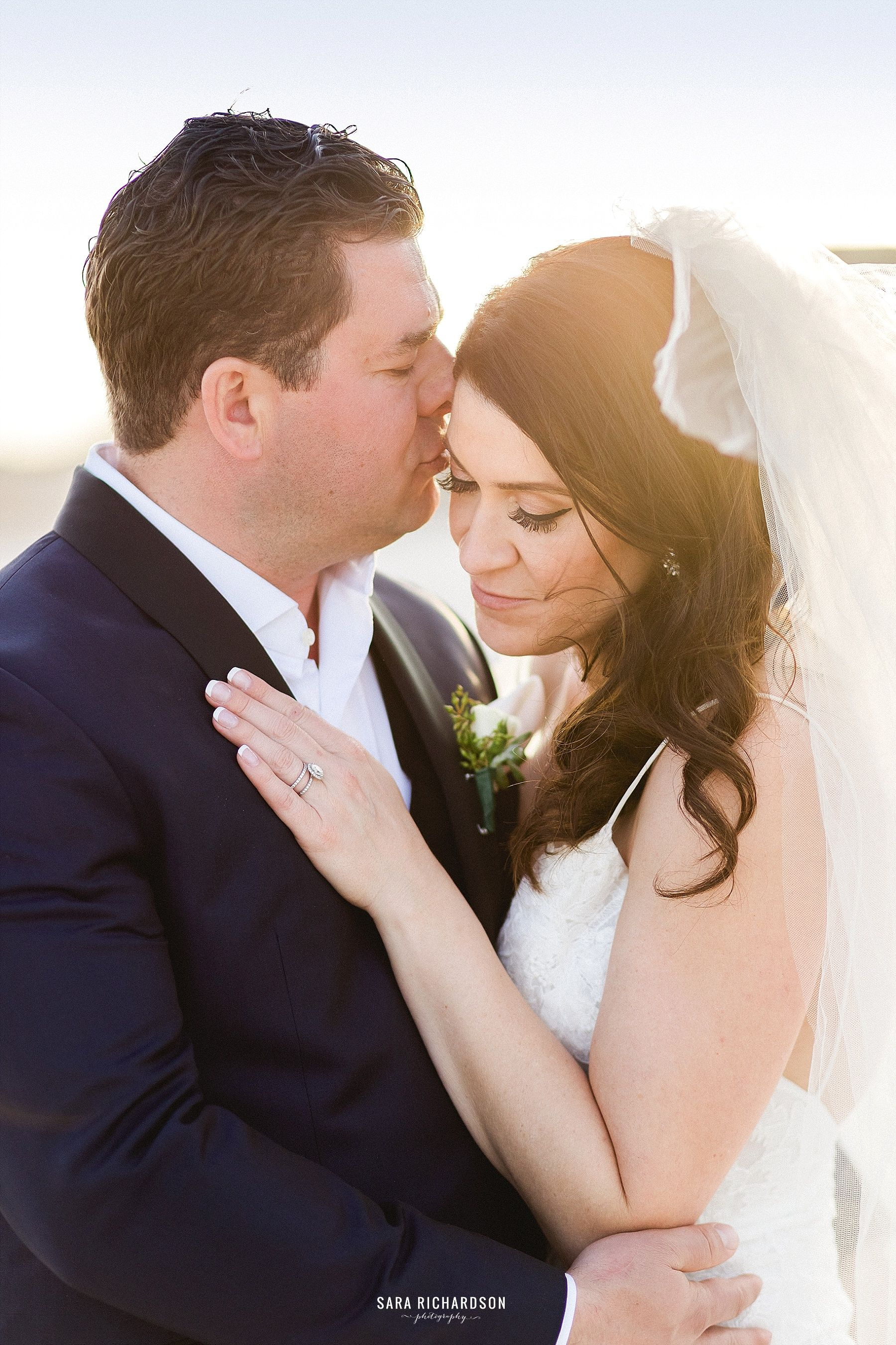Bride and Groom having their Photo Session on their Wedding Day. Destination Wedding Venue was LeBlanc in Los cabos Mexico