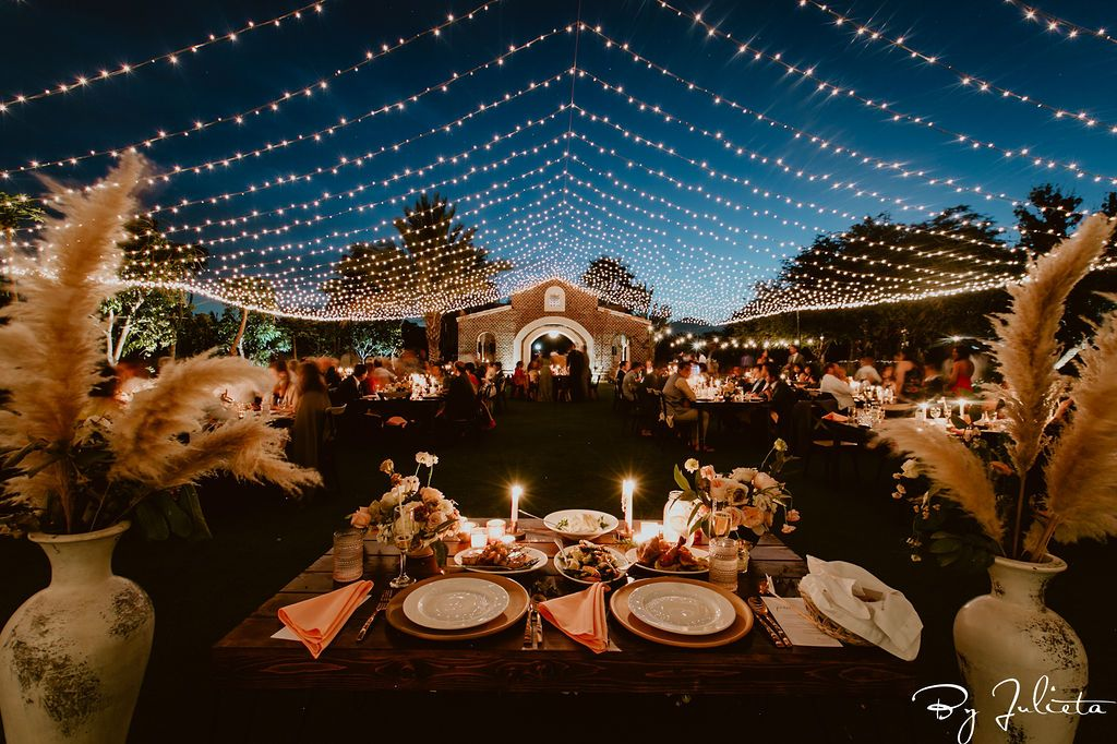 This is what it looked like from the Bride and Grooms table at their wedding at Flora Farms, in Cabo San Lucas, Mexico. Cabo Wedding Services was the Wedding Planner.