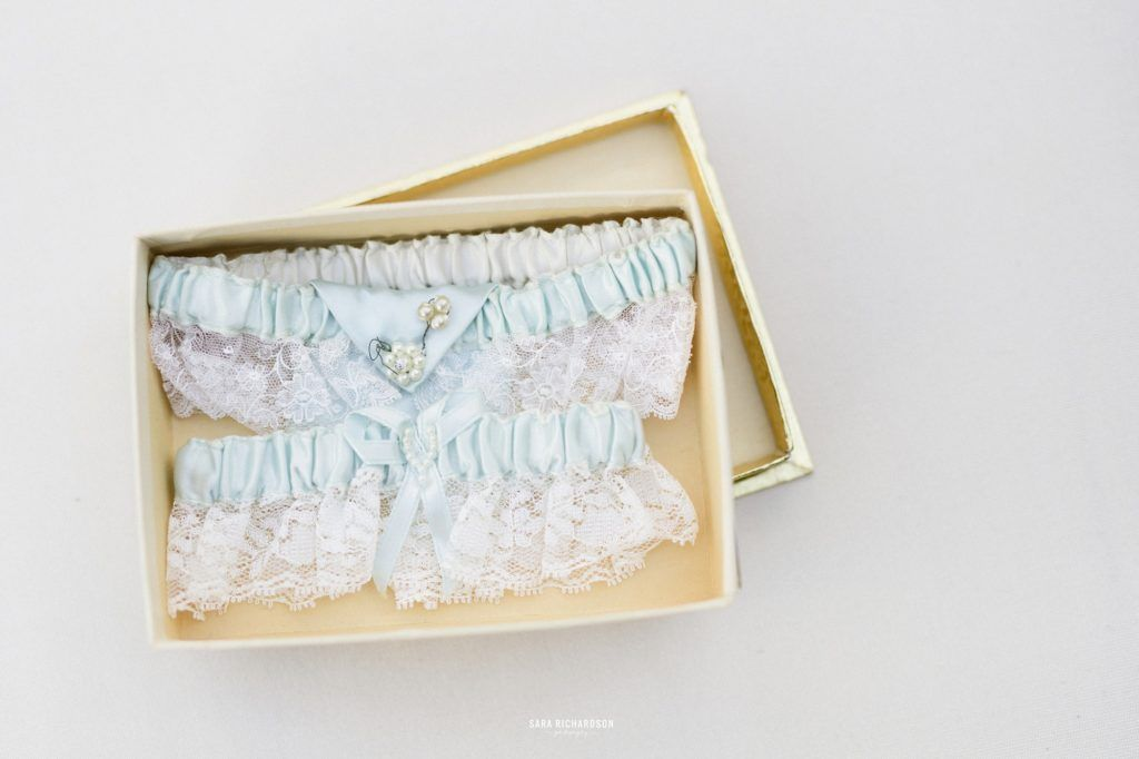 This was the garter that the bride wore. w