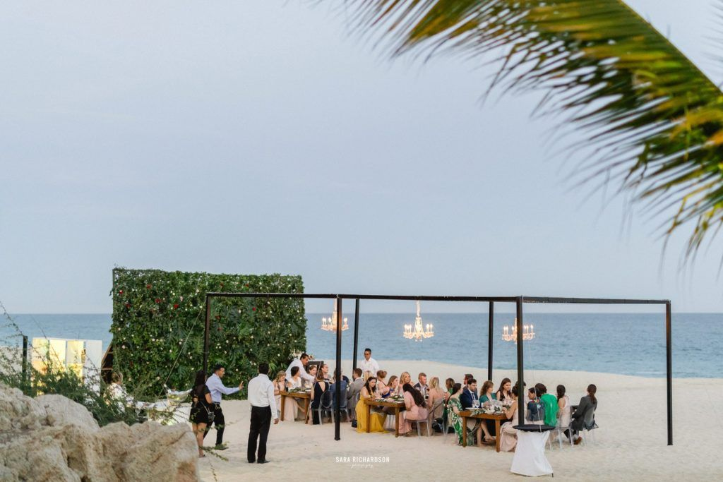 Beach Dinner at Destination Wedding in Los Cabos Mexico. It was Nicole and Lukes closest family and friends