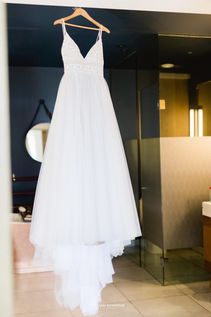 Wedding Dress by Vera Wang. Bride wore this dress at her Destination wedding in Cabo San Lucas Mexico. The Wedding took place at The Cape, Thompson Hotels.