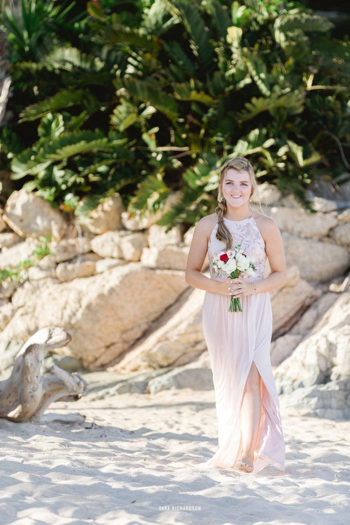 This was a Junior Bridesmaid and the brides little sister. She was so excited to be able to be part of the processional on such an important day in her sisters life. Her sister got married at Villa la Roca in Los Cabo, Mexico. Destination Wedding Planning was done by Jesse Wolff at Cabo Wedding Services in Metico.
