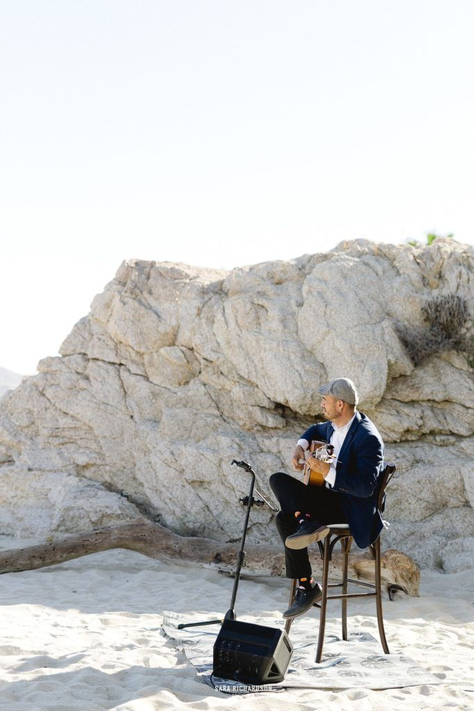 Francisco ala Torre playing Flamenco Guitarist on the beach for the ceremony. Such a great touch to have live music.