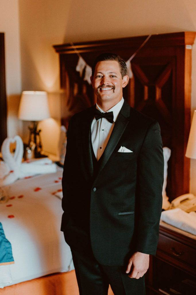 Groom on his Wedding Day looking good, getting ready at the Pueblo Bonito Sunset Beach, in Los Cabos, Mexico. A great location for staying with your guests