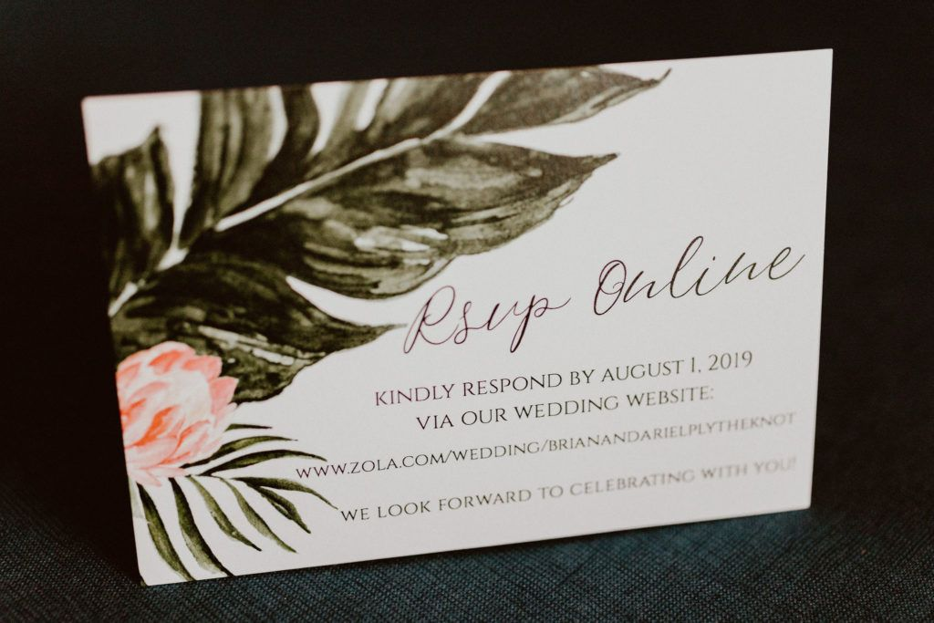 RSVP online save the dates. They were so cute, very classy and tropical.