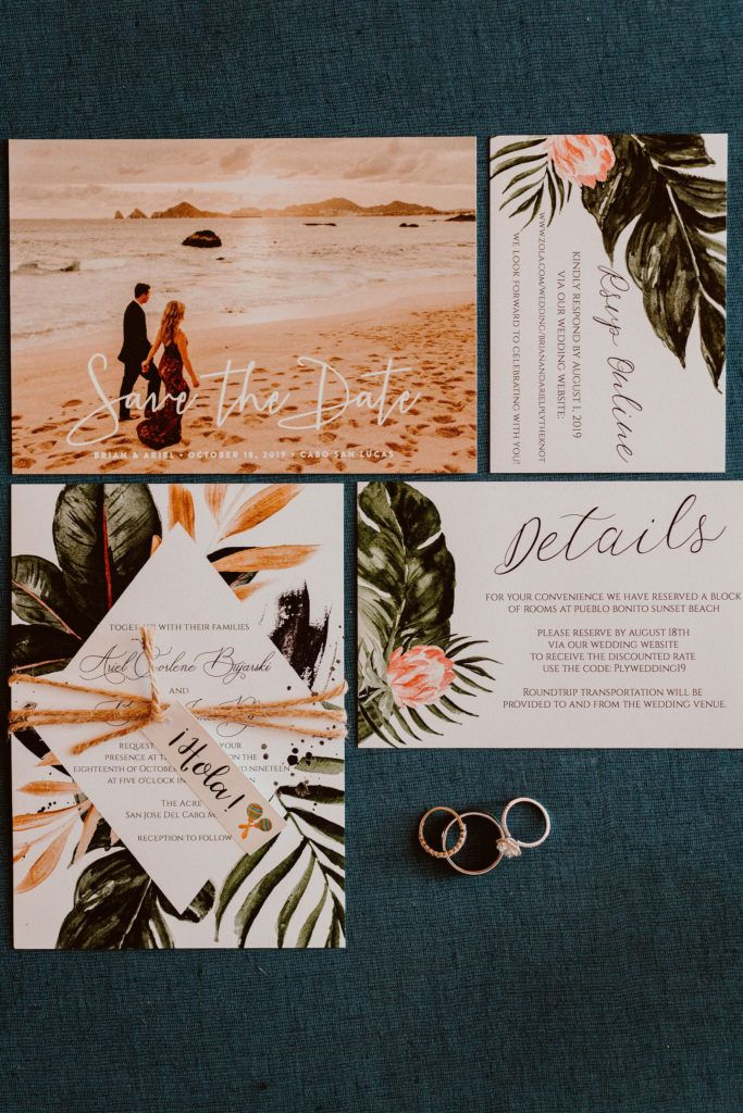 Save the Dates for Ariel and Brians wedding that was done at Acre Baja. Wedding Planning was done by Cabo Wedding Services.