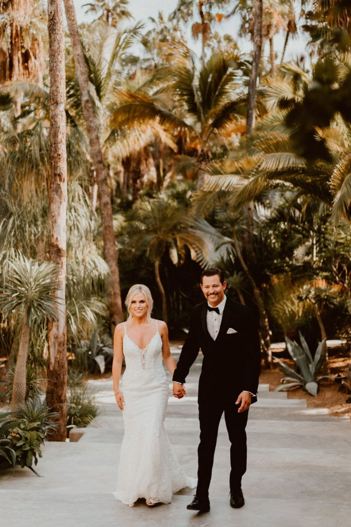 Bride and Groom doing a Portrait with just them at Acre Baja for a Destination Wedding in Los Cabos Mexico.