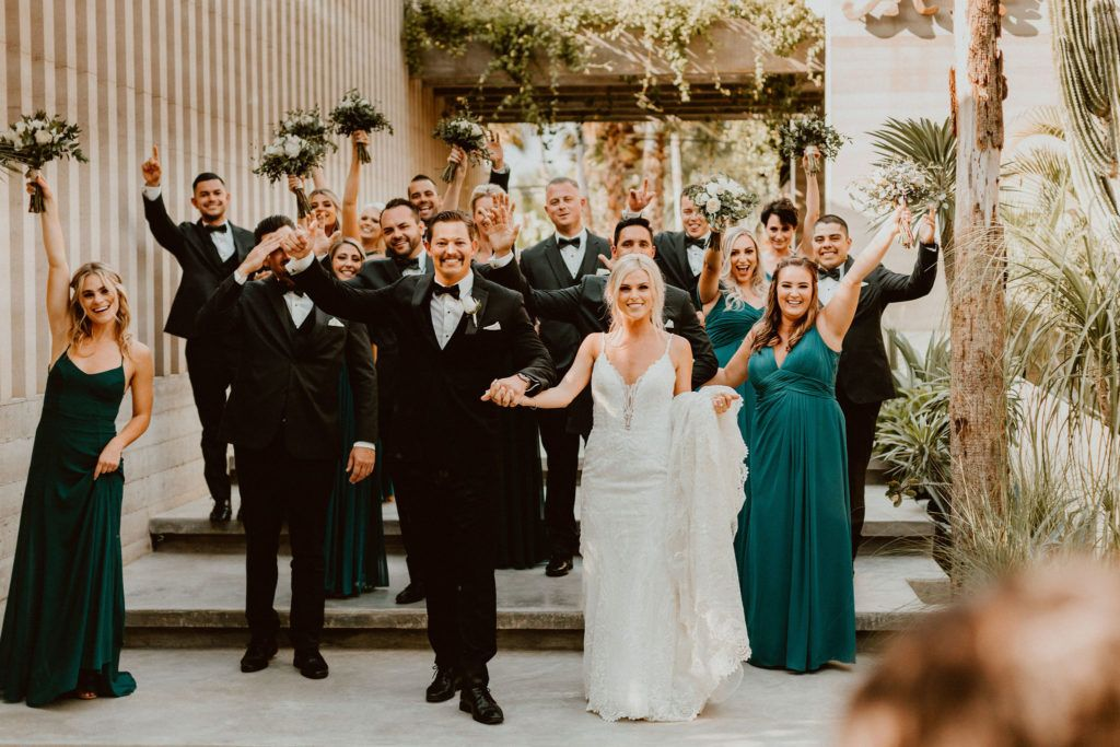 Wedding Party at Acre Baja getting ready to start the Ceremony for their Destination Wedding in Los Cabos, Mexico. Their wedding took place at the beautiful Acre Baja in Los Cabos Mexico.