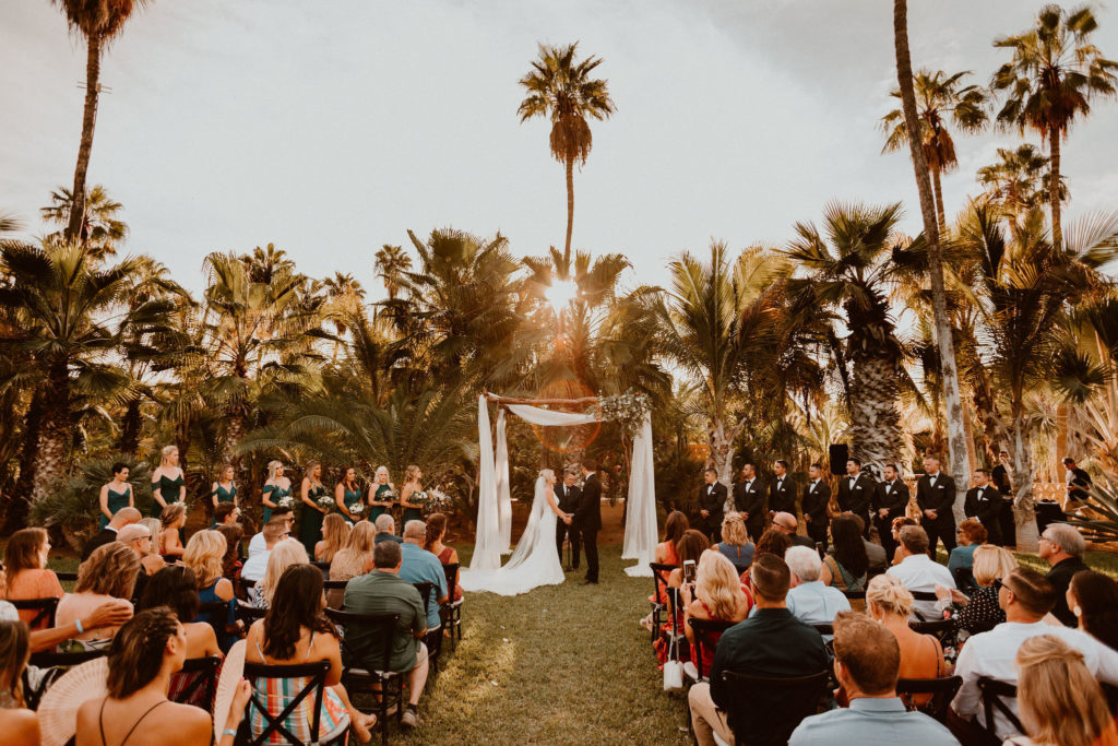 Ceremony taking place at Acre Baja in Los Cabos Mexico. Wedding Venue in Los Cabos. Wedding Planning was done by Jessica Wolff from Cabo Wedding services.