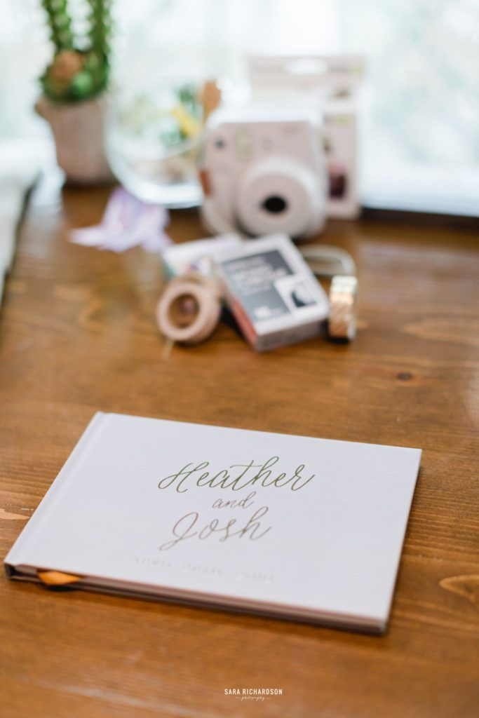 This is the Guest Signing Book that Heather and Josh used for their wedding for Guests to take a picot and sign.