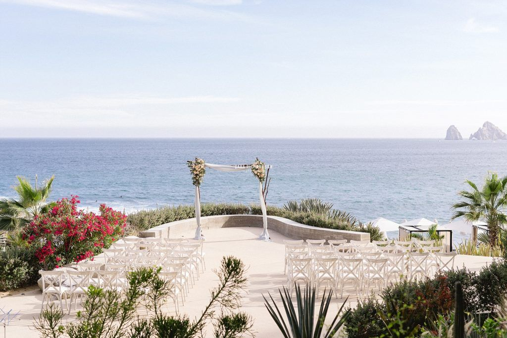 Wedding Ceremony at the Terrace at The Cape in Los Cabos Mexico. Photography was done by Sara Richardson Photo and Wedding Planning done by Cabo Wedding Services in Los Cabos Mexico