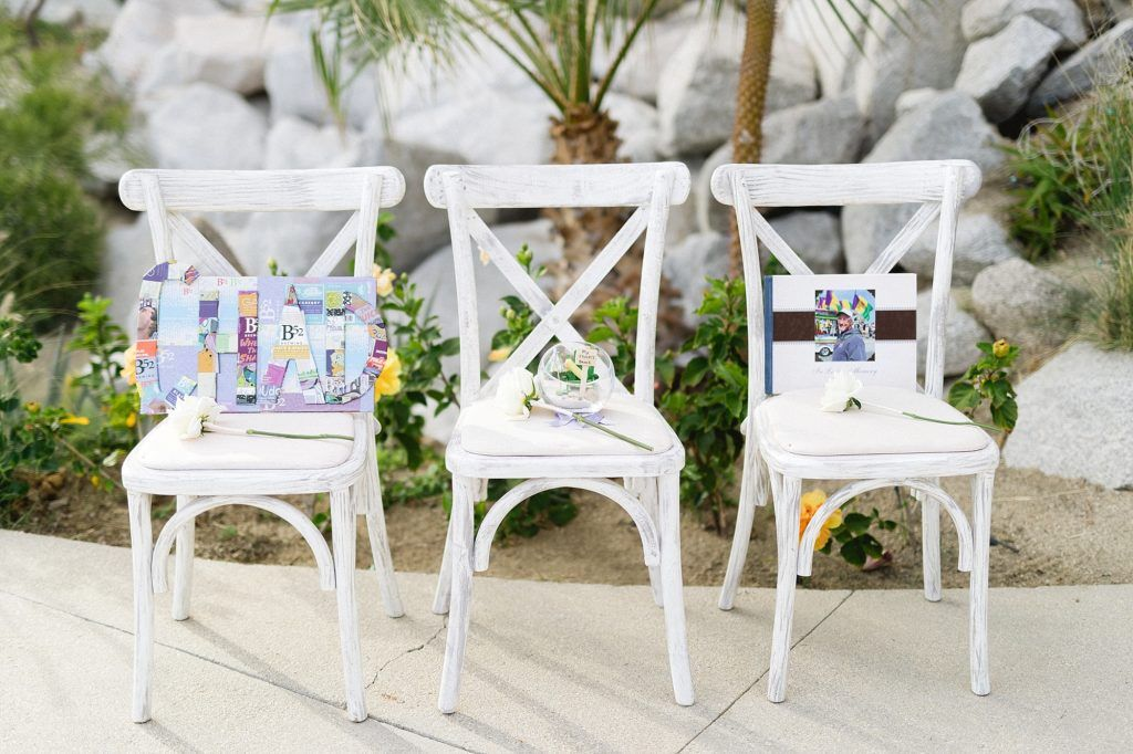 Memorial Chair at a Ceremony done at The Cape in Los Cabos Mexico. Wedding planning done by Jesse Wolff at Cabo Wedding Services