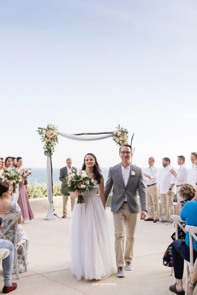 Bride and Groom at the Cape after their ceremony and just being pronounced Husband and Wife. Wedding Planning done buy Jesse Wolff and Cabo Wedding Services