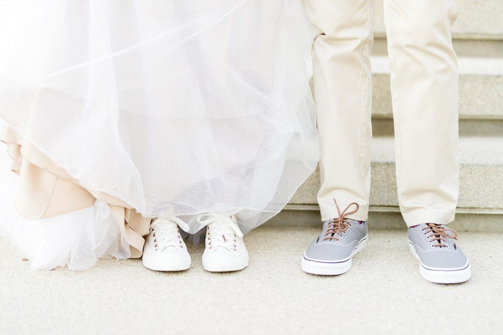 Bride and Groom wearing Converse All Start shoes for comfort. Our Bride, Heather, was definitely not a typical Bride. She was very casual and fun, making sure she was comfortable was a priorit