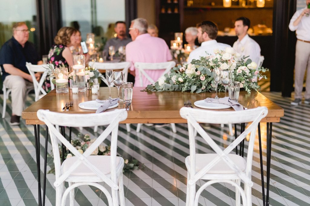 Sweetheart Table at The Cape in Los Cabos Mexico. Wedding Planning was done by Cabo Wedding Services and Venue was at The Cape.