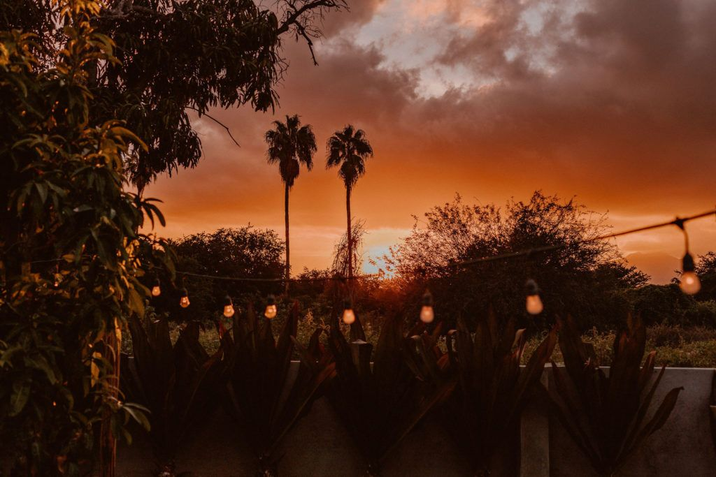 Sunset at Acre Baja in Los Cabos Mexico. The perfect Destination Wedding Venue for every bride! Wedding planning was done by Jessica Wolff from Cabo Wedding Services