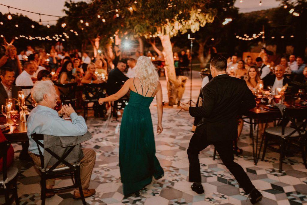 Everyone dancing at Acre Baja in Los Cabos Mexico