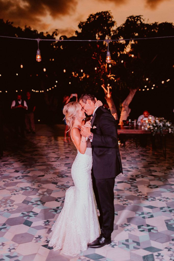 Bride and Groom at their First Dance at Acre Baja