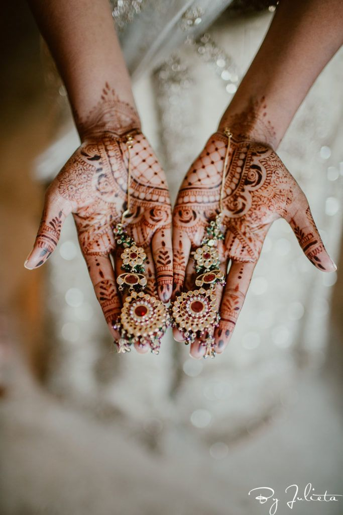 Brides Jewerly and henna that she wore for her Indian Wedding that took place in Los Cabos Mexico.