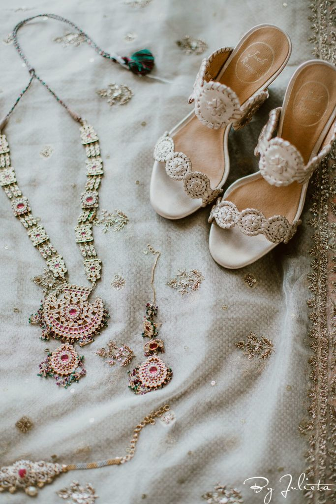 Brides Jewelry and shoes that she wore for her Wedding that took place at Flora Farms