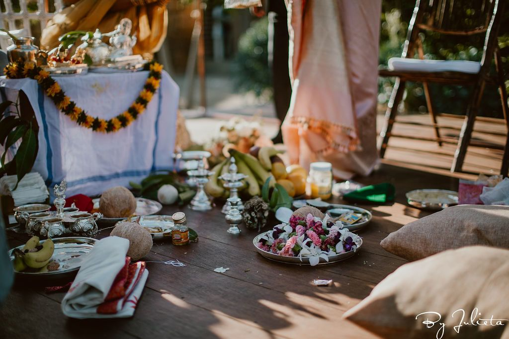 Indian Wedding Ceremony taking place at Flora Farms