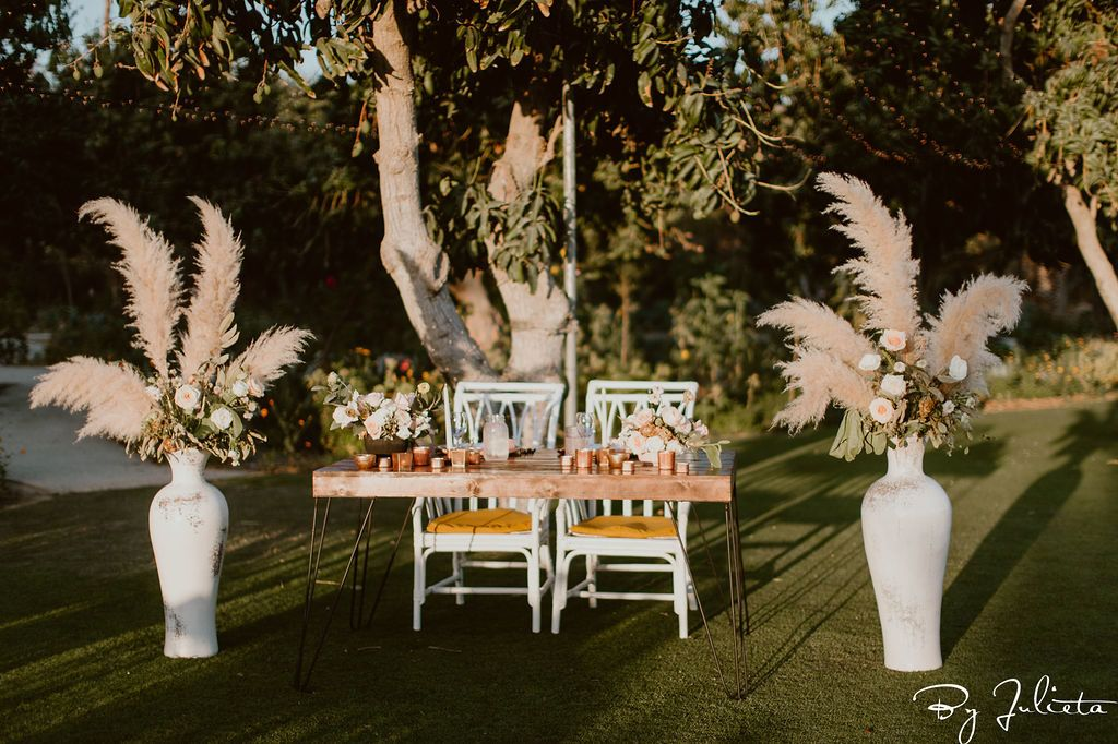 Sweetheart Table at Destination Wedding Venue in Los Cabos, Flora Farms.
