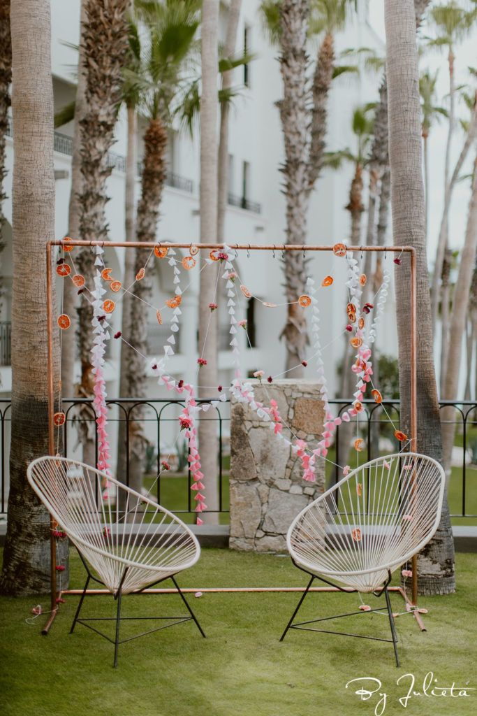 Haldi being held at Hilton Los Cabos in Mexico. The Wedding planning was done by Jessica Wolff from Cabo Wedding services and the wedding was held at Flora Farms. This event took place the day before the wedding.