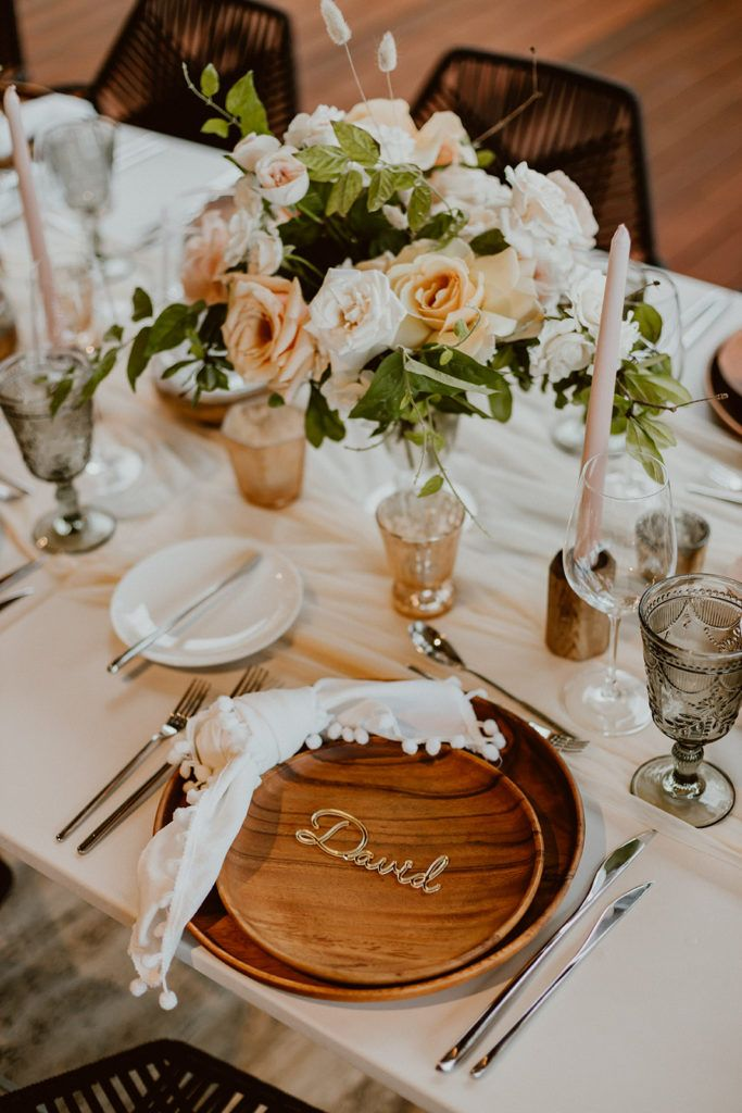 Personalized assigned seating for each guest at the reception table