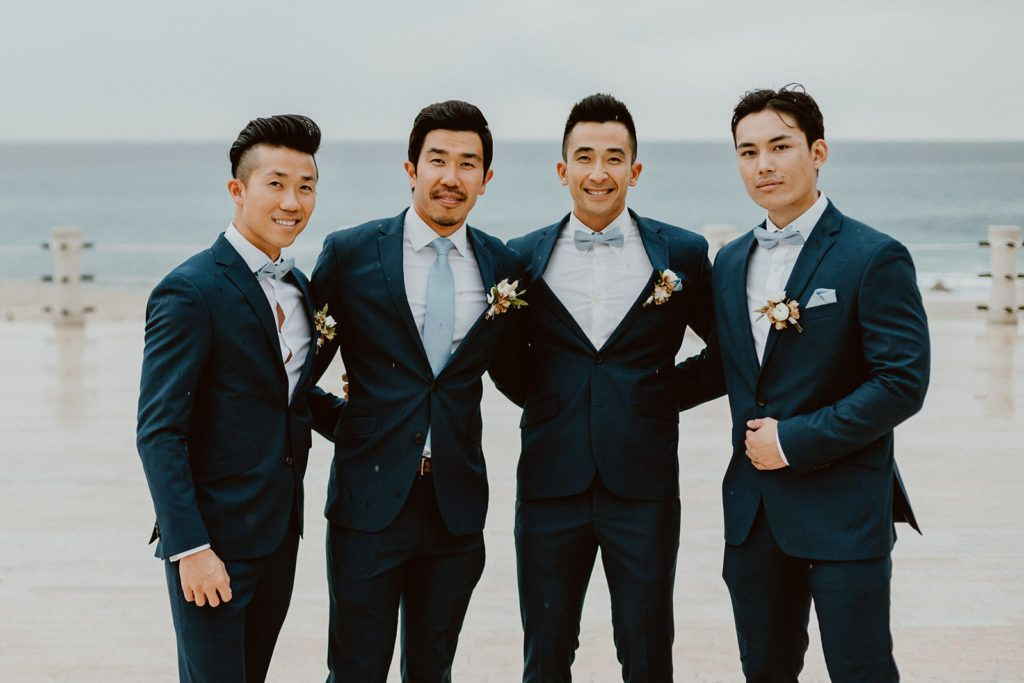 Groom with his groomsmen posing for a photo at Solaz Los Cabos. One of my favorite Wedding Venues in Los Cabos. Wedding Planning was done by Jessica Wolff from Cabo Wedding Services