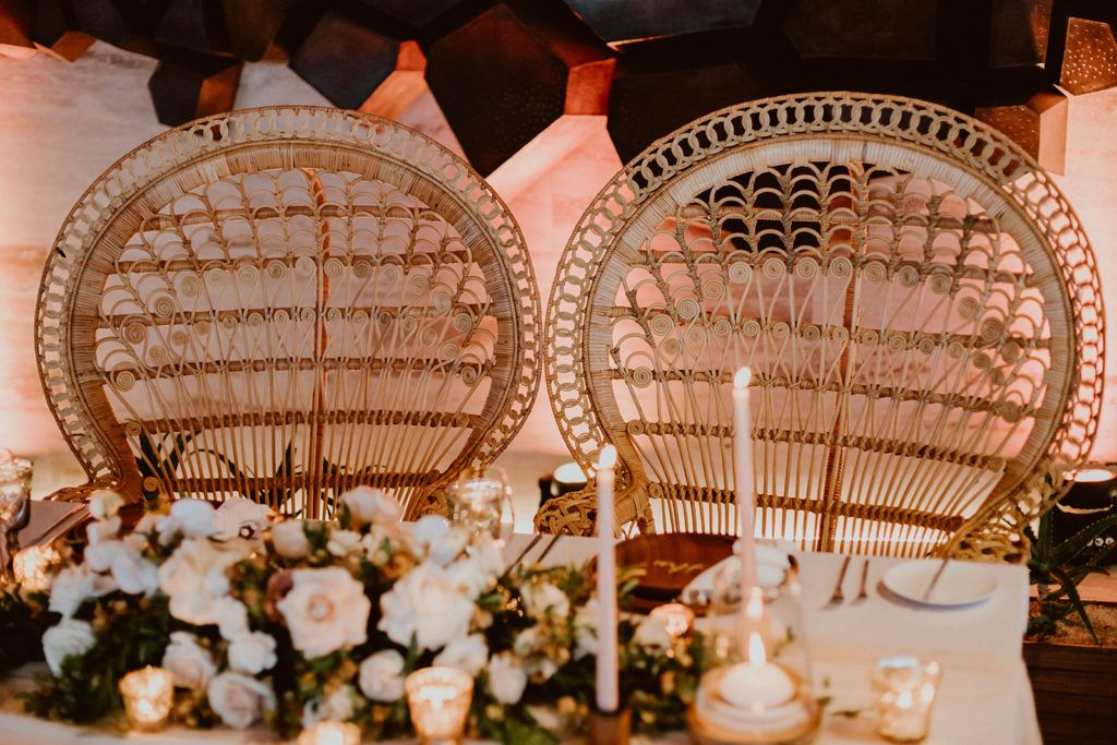 Sweetheart Table for Alexa and Justin in Los Cabos, Mexico. The wedding took place at Solaz, Luxury resorts in Los Cabos. Wedding planning was done by Jessica Wolff from Cabo Wedding Services.