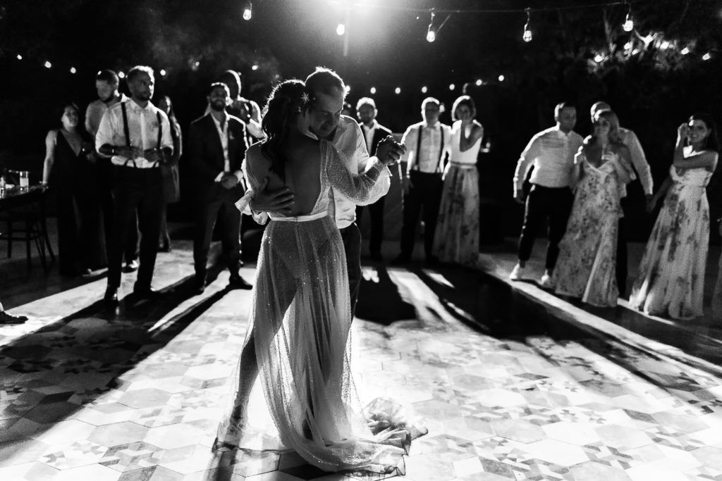 Bride and her dad doing the Father Daughter Dance at their desitnation wedding in Los Cabos Mexico. planning was done by Jessica Wolff